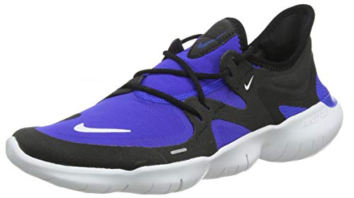 Nike Men Free Rn 5.0 Racer Blue/White/Black Running Shoes (AQ1289-402)