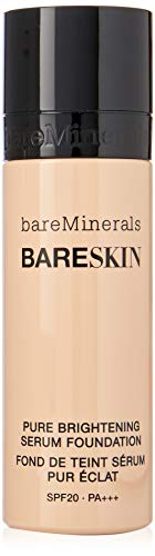 BareMinerals bareSkin Liquid Foundation and Pure Brightening Serum, SPF 20, Bare Shell 02, 1 Fl Oz