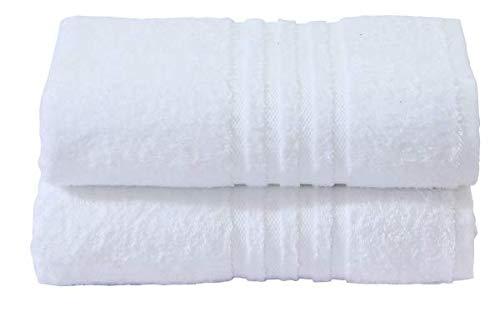 Divine Textiles - Juego de toallas (algodón egipcio, 600 g/m²), Blanco, 2 x Hand Towels