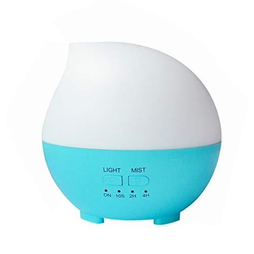 Road&Cool Luftbefeuchter Aromatherapie Zuhause Luftreinigungsapparat 7 Farben Nachtlicht Erleuchtung Duftöl-Diffusor (14 × 14 × 13 cm)