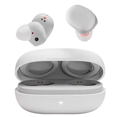 Amazfit Powerbuds Bluetooth Kopfhörer kabellose Earbuds mit Herzfrequenzüberwachung, IP55Wasser- und Staubbeständigkeit, bis zu 32 Stunden Akkulaufzeit mit Ladebox, Weiß