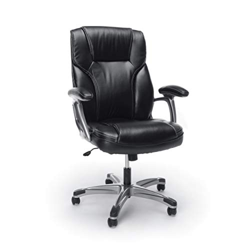 Essentials High-Back Leather Executive...
