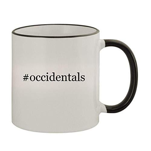 #occidentals - 11oz Ceramic Colored Rim & Handle Coffee Mug, Black