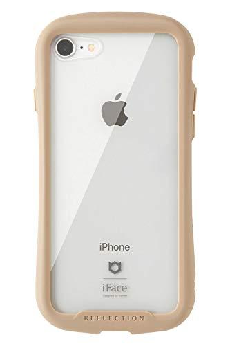iFace Reflection iPhone SE 2020 第2世代/8/7 ケース クリア 強化ガラス ベージュ