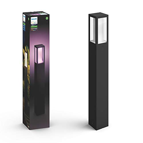 Philips Hue White and Color Ambiance LED Wegeleuchte Impress, für den Aussenbereich, dimmbar, bis zu 16 Millionen Farben, steuerbar via App, kompatibel mit Amazon Alexa (Echo, Echo Dot)