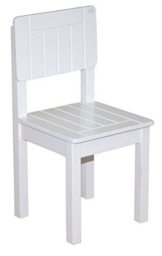 roba Kinderstuhl, Stuhl mit Lehne für Kinder, weiß lackiert, HxBxT: 59x29x29 cm, Sitzhöhe 31 cm