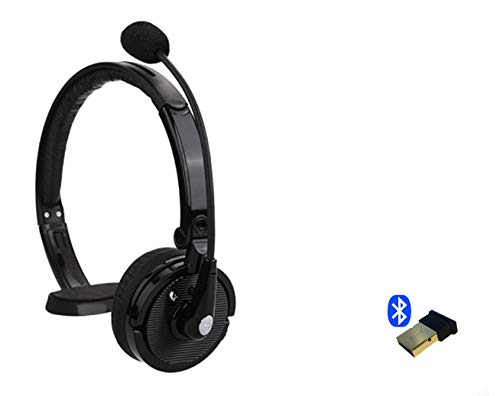 Support Yealink Bluetooth Headset Wireless USB Dongle and Headset Bundle Noise Reduction Desk Phone for SIP-T27G,T29G,T46G,T48G,T46S,T48S,T52S (Black 1PACK)
