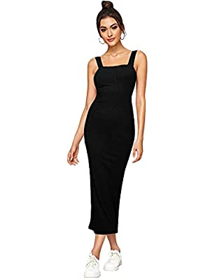 Soft and Thin Ribbed Fabric, has some stretch Square Neck, Wide Strap, Low Back, Split Back, Pull On Closure Perfect for date, going out, beach and casual dailywear Model Measurements: Height: 67.7 inch, Bust: 34.3 inch, Waist: 23.6 inch, Hips: 35.8 ...