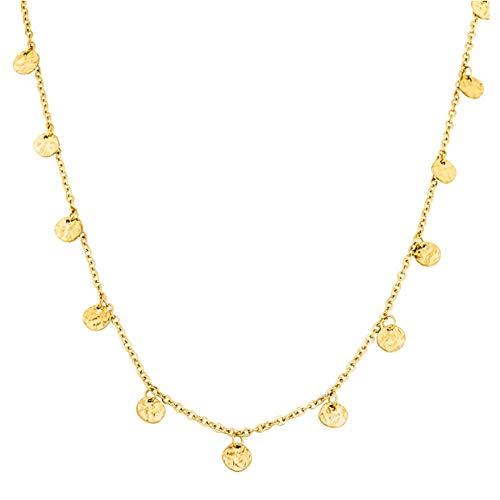 PURELEI ® Malihini Halskette (Gold, Rosegold & Silber) Mit Anhänger (40 cm Länge) … (Gold)