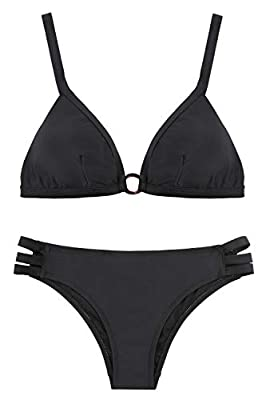 Material:Body:82% Nylon 18% Spandex.Smooth fabric, stretchy, durable, quick-drying, pro-skin, make it easy to full on and very comfortable to wear. Athletic Swimsuit:A simple but professional Two-piece swimwear. Fit for lap swimming, open water, bath...
