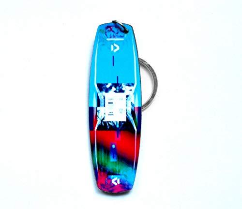 Metall Kiteboard Schlüsselanhänger Echtes Kiteboard Schlüsselanhänger | Kitesurfing Schlüsselanhänger (Duotone Soleil 2020)
