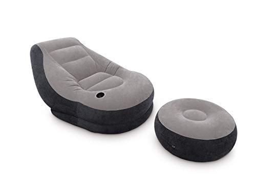 Intex-68564 Poltrona Lounge 99 x 130 x 76 cm, con Poggia Piedi 64 x 28 c, Tinta Unita, 33x12.4x36.8 cm, 68564NP