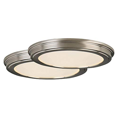Commercial Electric 24-Watt Brushed Nickel Integrated 13' LED Ceiling Flushmount