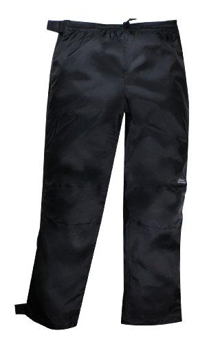 Red Ledge Unisex Adult Thunderlight Full-Zip Pant Full Side Zip Rain Pant,Black,Large