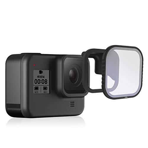 TELESIN - Filtro polarizzatore magnetico CPL per GoPro Hero8 nero, protezione dell'obiettivo polarizzatore circolare per GoPro Hero 8 accessori (1 x CPL)