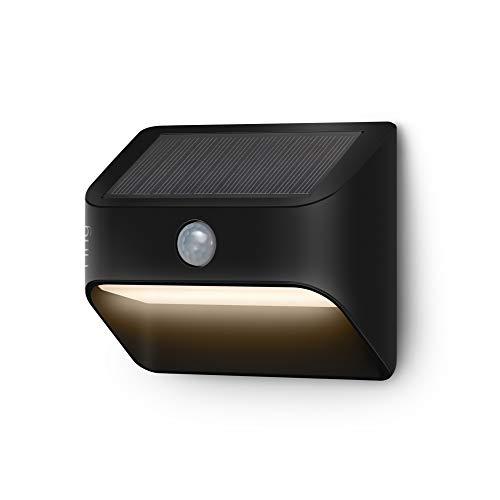 Introducing Ring Solar Steplight -- Outdoor Motion-Sensor Security Light, Black (Ring Bridge required)