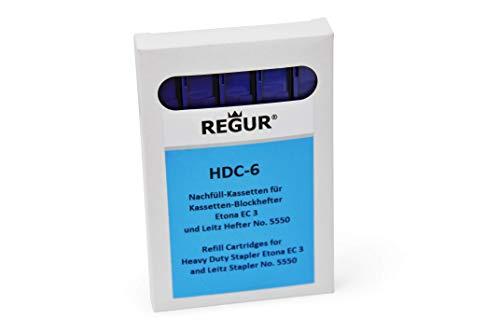 REGUR HDC 6 Blue Staple Cassette Refills (2-25 Sheets ) for Etona EC3