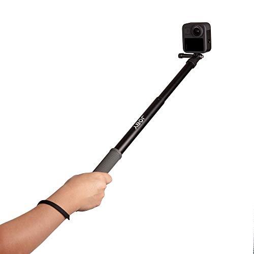 Joby TelePod Sport, Asta estensibile per fotocamere d'azione e 360°, treppiede da viaggio impermeabile, accessorio per smartphone, per la creazione di contenuti, Vlogging, foto d'azione