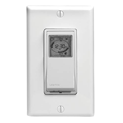 Leviton VPT24-1PZ Vizia 24-Hour Programmable Indoor Timer with Astronomical...