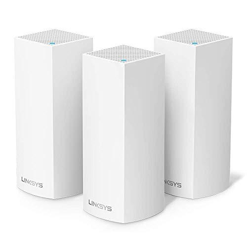 Linksys WHW0303 Velop sistema de mesh Wi-Fi tribanda para toda la casa (router Wi-Fi AC6600/extensor Wi-Fi para mayor cobertura, controles parentales, pack de 3, hasta 525 metros cuadrados, blanco)