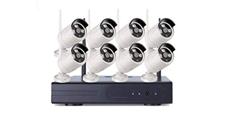 KIT VIDEOSORVEGLIANZA WIRELESS 2 MP FULL WIFI HD IP 8 TELECAMERE NVR LAN REMOTO 3G