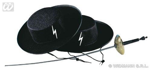 Widmann- Cappello Zorro Caballero in Feltro, Multicolore, Universale, 004.WD2506Z