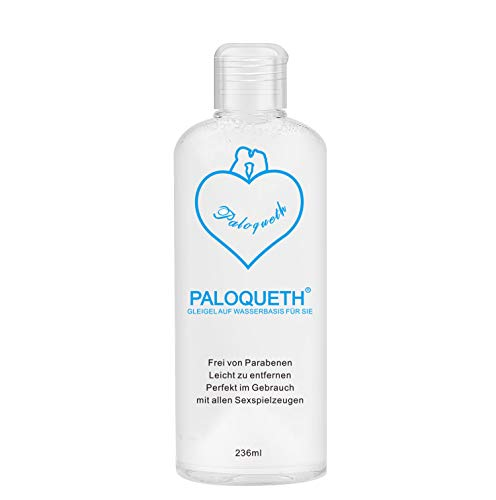 PALOQEUTH Gleitgel auf Wasserbasis für sie 236ml, wasserbasierte Aqua Schmiermittel Gegen Trokenheit Langlebig Parabenfreie Hypoallergen