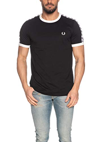 Fred Perry Taped Ringer T-Shirt, Maglietta - XL