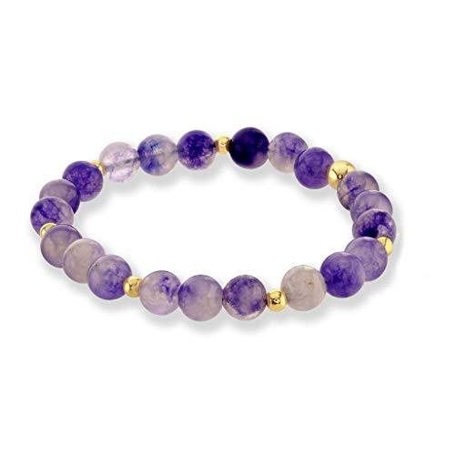 Believe London Amethyst Bracelet Gemstone Healing Chakra...