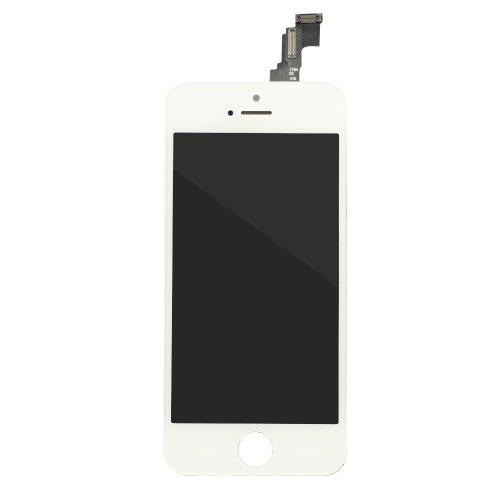 EK iPhone 5c タッチパネル(フロントガラスデジタイザ) 液晶パネルセット 修理交換用 (ホワイト)