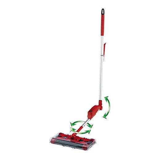 CLEANmaxx 07146 Swivel Sweeper G2 mit Ellenbogengelenk| Bodenkehrer | Akkubesen | Rot