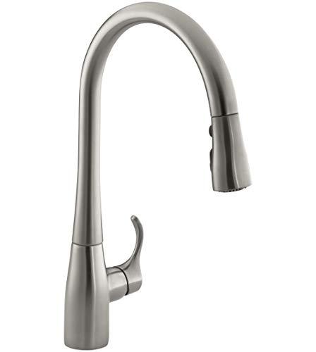KOHLER K-596-VS Simplice Kitchen Faucet, Vibrant Stainless,...