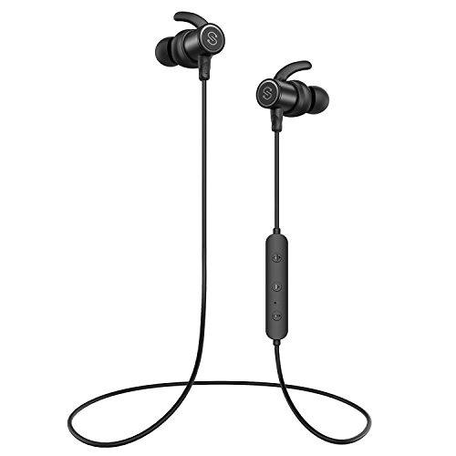 SoundPEATS Bluetooth Earphones, Wireless 4.1 Magnetic Earphones, in-Ear IPX6 Sweatproof Headphones with Mic (Superior Sound with Upgraded Drivers, APTX, 8 Hours Working Time, Secure Fit Design)