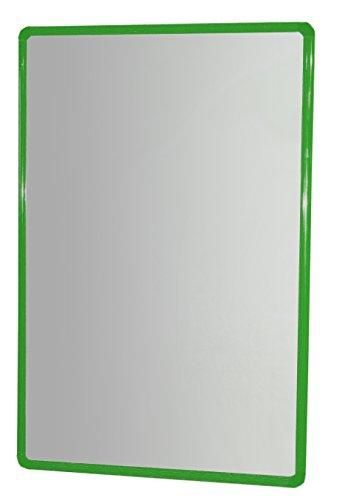 HenBea Kinder Aluminium Spiegel mit Rahmen, Kunststoff, grün, 100x 65cm