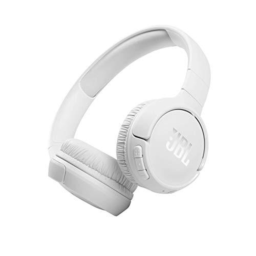 JBL Tune 510BT - Auriculares supraaurales inalámbricos con conexiones multipunto y asistente de voz, batería de 40 h, Blanco