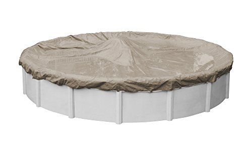 Pool Mate 5718-4 Sandstone Winter Pool Cover for Round Above Ground Swimming Pools, 18-ft. Round Pool
