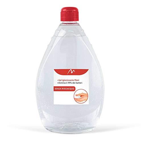 Mediawave Store - GEL Igienizzante per mani BATTERICIDA Soluzione Concentrata 1 LT professionale disinfettante germi e batteri, liquido con antibatterico, deterge a fondo