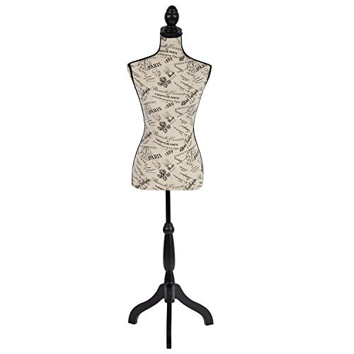 Dressform Mannequin Torso Dress Form 60-67 Inch Height Adjustable Female Model Display Mannequin Body High Density Foam with Wooden Tri-Pod Stand for Sewing Dressmakers Dress Jewelry Display