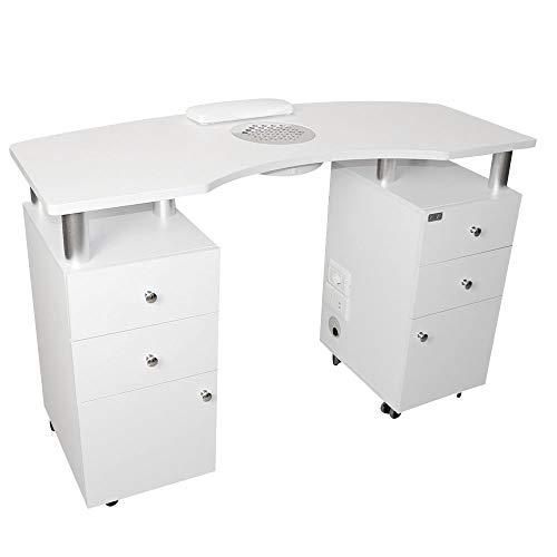 Tavolo da manicure professionale, Aspiratore 50W, con 6 cassetti per unghie,nail art, ricostruzione unghie, tavolino...