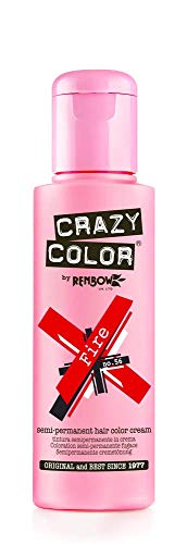 Crazy Color Fire Nº 56 Crema Colorante del Cabello Semi-permanente
