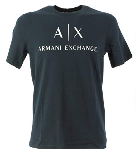 ARMANI EXCHANGE 8nztcj T-Shirt, Blu (Navy 1510), M Uomo