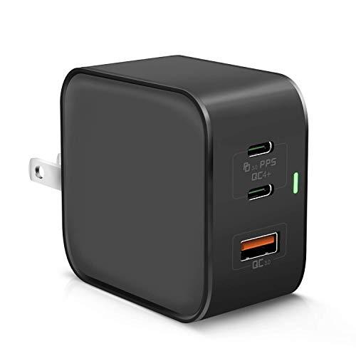 【最新版】PD 充電器 65W USB-C ACアダプター 急速充電器(GaN 窒化ガリウム採用/2USB-C&1USB-Aポート/折畳...