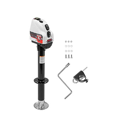 Bulldog 500200 Powered Drive A-Frame Tongue Jack with Spring Loaded Pull Pin - 4000 lb. Capacity (White Cover)