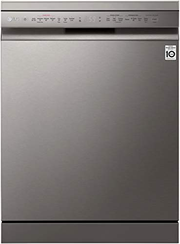 LG 14 Place Settings Wi - Fi Dishwasher (DFB424FP, Silver, Silent Operation, Tough Stain Removal,...