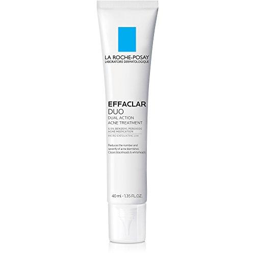 La Roche-Posay Effaclar Duo Dual Action Acne Treatment Cream with Benzoyl Peroxide, 1.35 Fl. Oz.