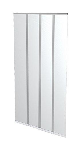 Windhager Insektenschutz Lamellenvorhang Türvorhang, mit vormontierten Beschwerungsleisten, individuell kürzbar, mit Klett- und Abdeckband, 100 x 220 cm, weiß, 04316