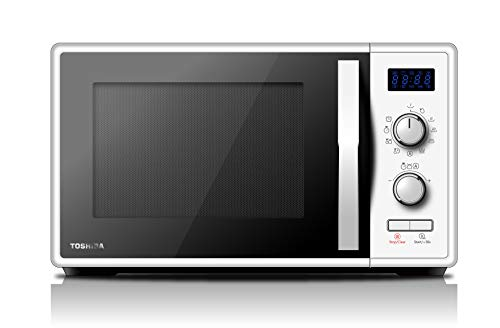 Toshiba MW-AG23P (WH) Mikrowelle mit Grill 900 W mit Crispy 1050 W & Kombikochen, 23 l