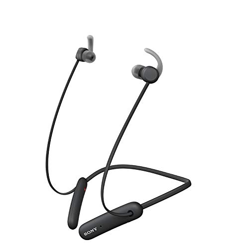 Sony WI-SP510 Wireless Sports Extra Bass in-Ear Headphones with 15 hrs Battery, Quick Charge, Magnetic Earbuds, Tangle Free Cord, BT Ver 5.0, Bluetooth Headset with Mic for Phone Calls/WFH (Black)