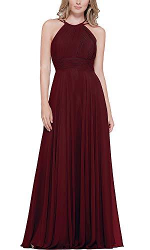 Roiii Vestido largo de gasa para mujer, estilo casual, para