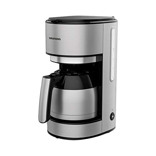 GRUNDIG KM5620T Kaffeemaschine mit Thermokanne und kraftvollen 1000 Watt, Edelstahl